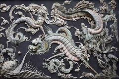 Chiński smok - dekoracja na ścianie Obraz Stock