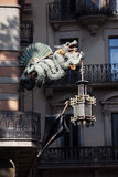 Chiński smok dom parasole w Barcelona Zdjęcie Royalty Free