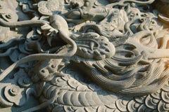 Chiński smok rzeźbi przed Wata Leng Noei Yi chińczyka świątynią Zdjęcia Royalty Free