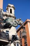 Chiński smok w Barcelona Obrazy Stock