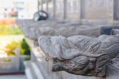 Chiński smoka kamień przed Wata Leng Noei Yi chińczyka świątynią Fotografia Royalty Free