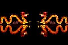 Chiński smoka lampion obraz stock