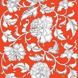Chiński tło z kwiatami ilustracja wektor