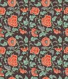 Chiński tło z kwiatami ilustracji