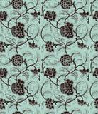 Chiński tło z kwiatami bezszwowy wzoru ilustracji