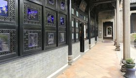 Chiński traditonal korytarz zdjęcia royalty free