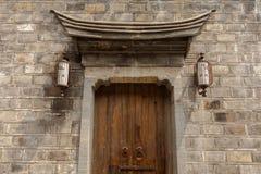 Chiński tradycyjny architektury drzwi zdjęcia royalty free