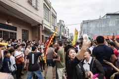 Chiński tradycyjny lokalny występ--chuan Zhang pokonywać przeszkody Zdjęcie Royalty Free