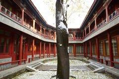 Chiński tradycyjny podwórze, Pekin Beihai park Obrazy Stock