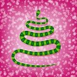 Chiński węża symbol nowy rok ilustracji