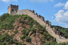 Chiński wielki mur, Jinshanlin sekcja, Pekin, Chiny zdjęcie stock