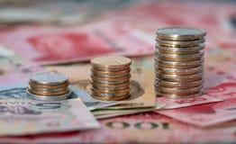 Chiński Yuanï ¼ ˆRMBï ¼ ‰ banknot obraz stock