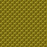 Chiński złocisty bezszwowy deseniowy smok rybi waży prostego bezszwowego deseniowego natury tło z japończyk fala okręgu wzoru vec royalty ilustracja