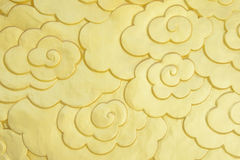 Chiński złoto chmury symbol Obraz Stock