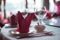 chiński zastawy stołowe fotografia stock