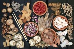 chiński ziołowy gwiazd medycyny później superfood tradycyjne fotografia stock