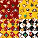 Chiński zodiaka tła set Obraz Stock