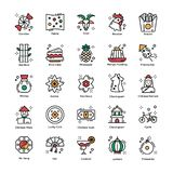 Chińskich nowy rok świętowań ikon Płaska paczka royalty ilustracja