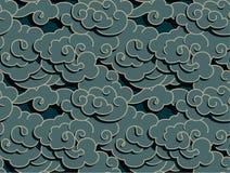 Chińskie chmury royalty ilustracja
