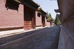Chińskie czerwieni ściany Zdjęcie Stock