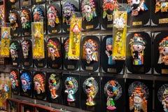 Chińskie dramata charakteru lale dla sprzedaży przy prezenta sklepem zdjęcie stock