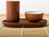 Chińskie herbaciane filiżanki Obraz Royalty Free