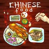 chińskie jedzenie ilustracji