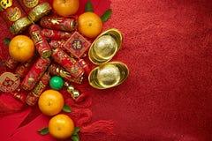 Chińskie monety szczęście, chińska kępka lub chińczyków złociści ingots Fotografia Royalty Free
