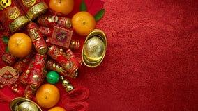 Chińskie monety szczęście, chińska kępka lub chińczyków złociści ingots Obraz Royalty Free