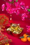 Chińskie nowy rok dekoracje, generci chiński charakter symbolizują Zdjęcie Stock