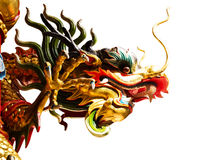 Chińskie smok statuy odizolowywać Fotografia Royalty Free