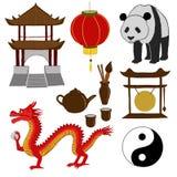 chińskie symbole również zwrócić corel ilustracji wektora Obrazy Stock