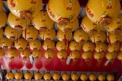 Chińskie tradycje, ludowe wiary, modlitwa życzą, jaskrawi światła, zdjęcie stock