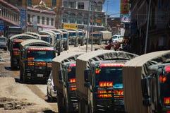 Chińskie wojsko ciężarówki zdjęcia royalty free