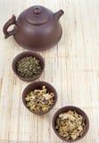 chińskie ziołowe ustalone herbaciane herbaty Zdjęcie Royalty Free