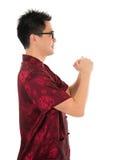 Chińskiego cheongsam męski szanować Fotografia Royalty Free