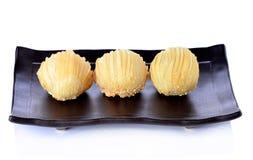 Chińskiego ciasta deserowy festiwal Chiny na białym backgrou Obrazy Royalty Free