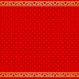 Chińskiego dnia nowego roku tła czerwony bezszwowy wzór Zdjęcie Royalty Free