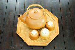 chińskiego filiżanek garnka ustalona herbata Zdjęcie Stock