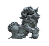 chińskiego lwa męski statuy kamień Fotografia Stock