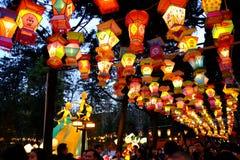 2016 Chińskiego nowego roku świątynnych jarmarków i latarniowego festiwal w Chengdu Obrazy Royalty Free