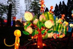 2016 Chińskiego nowego roku świątynnych jarmarków i latarniowego festiwal w Chengdu Fotografia Stock
