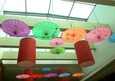 Chińskiego papieru parasol - sztuki Parasolowe Zdjęcia Royalty Free