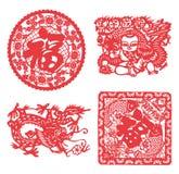 Chińskiego papieru rozcięcie Zdjęcia Royalty Free