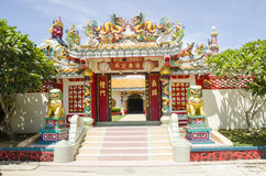 Chińskiego smoka Buddyjska świątynia, Tajlandia Obraz Royalty Free