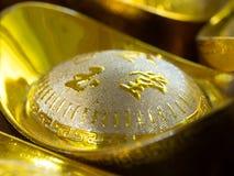 Chińskiego stylu ingots złocista wartość Obrazy Royalty Free