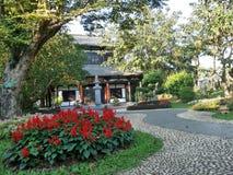 Chińskiego stylu ogród i dom Obraz Royalty Free