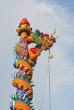Chińskiego stylu smoka statua w świątyni obraz royalty free