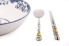 chińskiego stylu tableware Zdjęcie Royalty Free