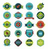 Chińskiej nowy rok odznaki sztandaru projekta tła płaski set, eps10 Fotografia Royalty Free